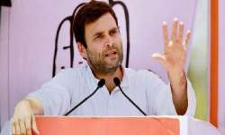 Congress chief Rahul Gandhi released a report card for