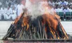 Vajpayee's mortal remains were consigned to flames at