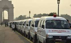 File photo of CATS-operated ambulances in New Delhi