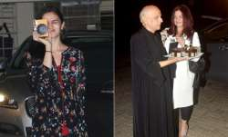 Bollywood actress Alia Bhatt and Pooja Bhatt celebrated dad