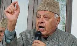 National Conference president Farooq Abdullah