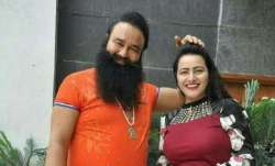 Gurmeet Ram Rahim with his 'adopted' daughter Honeypreet