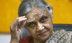 Former Delhi chief minister Sheila Dikshit