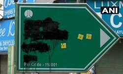 Hindu Sena workers deface Babar Road signboard; demand