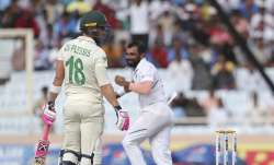South Africa's captain Faf du Plessis, left, looks back