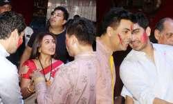 Rani Mukerji, filmmaker Karan Johar and director Ayan