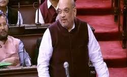 Amit Shah in Rajya Sabha