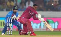 Live Score India vs West Indies, 1st T20I: Hetmyer, Pollard take charge as Windies eye 200