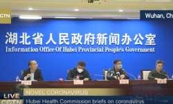 Coronavirus outbreak: Hubei Health Commission addresses media with masks on