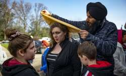 Gurdwara in US holds open house days after racist graffiti attack