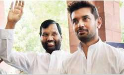 Lok Janshakti Party president Ram Vilas Paswan and Chirag
