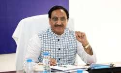 A file photo of Union HRD minister Ramesh Pokhriyal