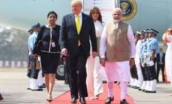 Who is the Indian woman accompanying Donald Trump and