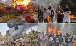 Violence in northeast Delhi.