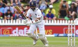 Ajinkya Rahane bats during day one of the First Test match