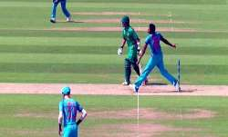 Jasprit Bumrah bowling a no-ball in the historic final