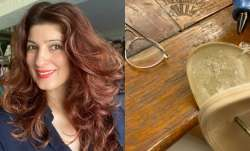 Twinkle Khanna can't control her laughter as she tries to fix broken slipper with glue gun