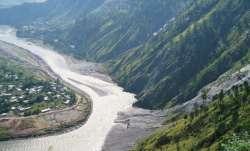 A stretch of the Jhelum River, as it flows through PoK