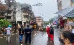 Trees and poles fall as 'Nisarga' makes landfall near Alibaug