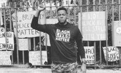 carlos brathwaite, carlos brathwaite protest, black lives matter, black lives matter protest, black