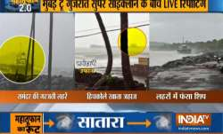 Video: Ship gets stuck in high tides caused due to cyclone Nisarga in Mumbai