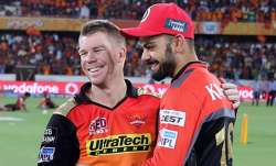 David Warner and Virat Kohli.