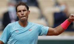Spain's Rafael Nadal celebrates winning the second round