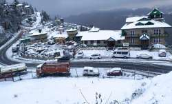 Pictures from Shimla after first November snowfall