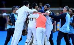 Team India celebrates after Gabba win