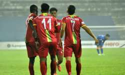 It is a race between three sides -- TRAU FC, Mohammedan SC,