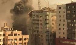 A building housing various international media, including