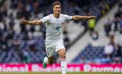 Czech Republic's Patrik Schick celebrates after scoring his