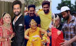Pics, videos of Vicky Kaushal from his cousin's wedding go viral, see here