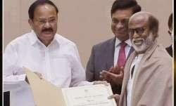 Rajinikanth receives the Dadasaheb Phalke Award