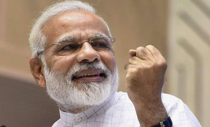 The voters also gave thumbs-up to Modi's leadership as well