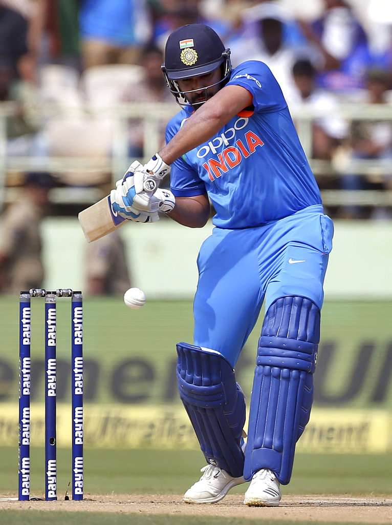 India were off to a poor start when Rohit Sharma (4) was dismissed early by Kemar Roach in the fourth over of the day.