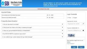SBI SCO Admit Card 2021 released. Direct link to download
