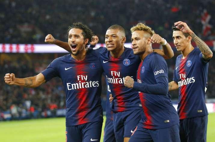 French League Mbappe Scores Four As Psg Rout Lyon 5 0 Soccer News India Tv
