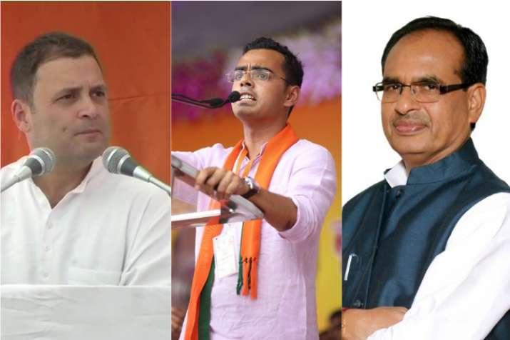Congress chief Rahul Gandhi, Kartikey Singh Chouhan, Shivraj Singh Chouhan