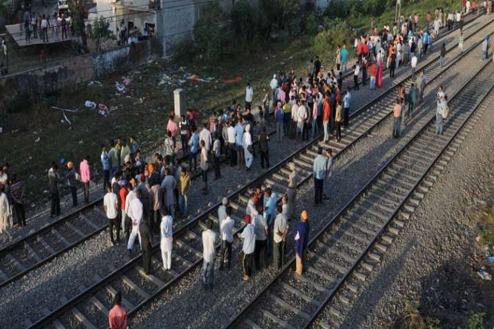 Sixty people were crushed to death by a train coming