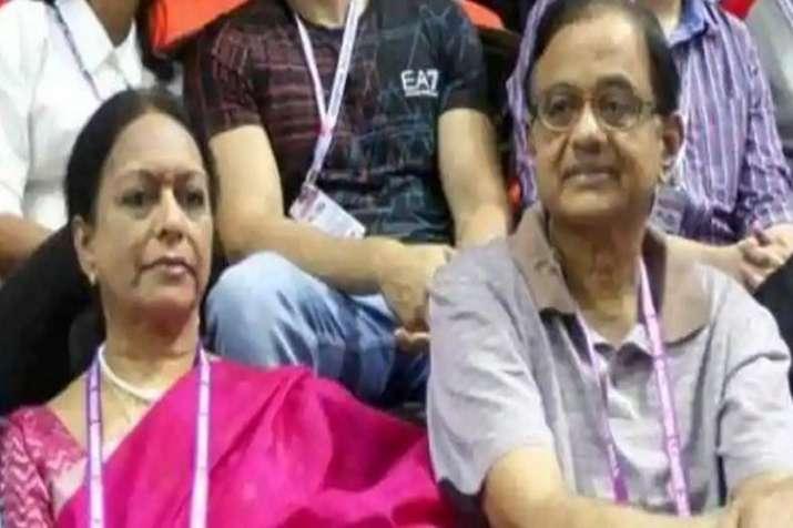 P Chidambaram with wife Nalini