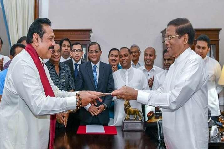 Mahinda Rajapaksa with President Sirisena