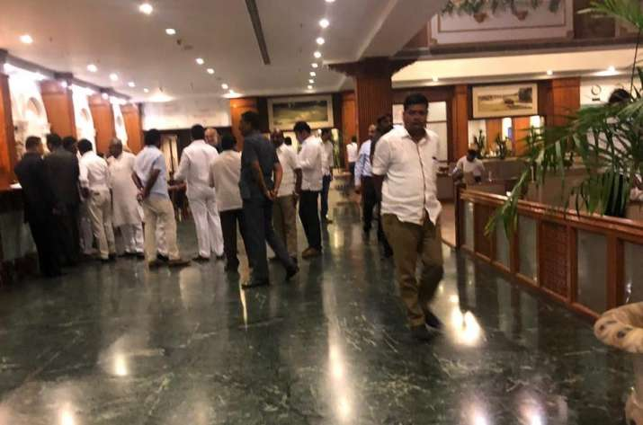 Congress MLAs have been staying at Eagleton resort in