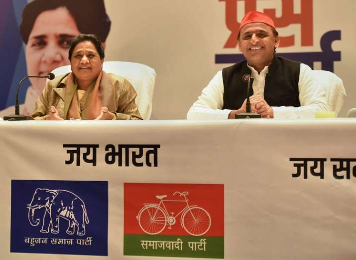 BSP supremo Mayawati and Samajwadi Party President Akhilesh