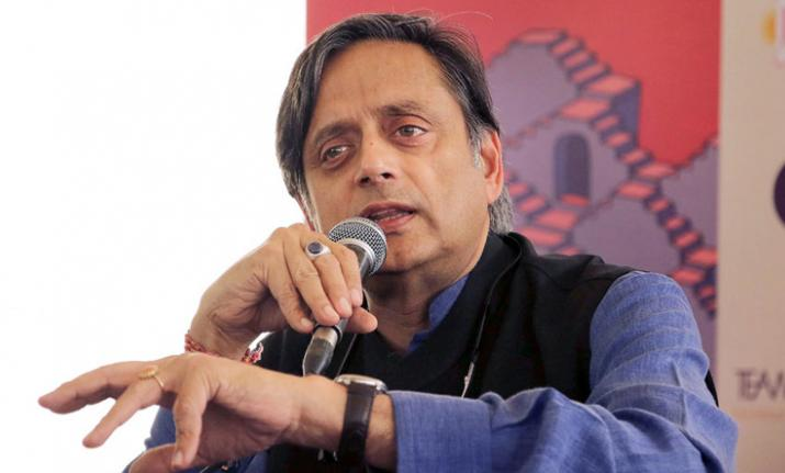 When asked about the crucial Lok Sabha polls, Tharoor
