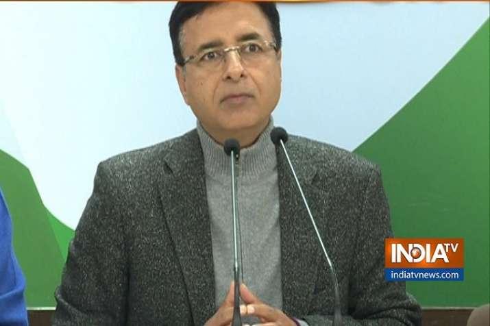 Congress spokesperson Randeep Singh Surjewala.