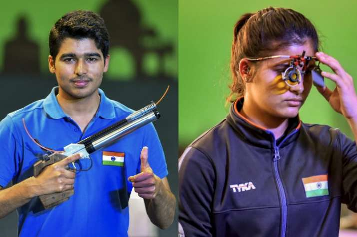 Saurabh Chaudhary, Manu Bhaker win gold in 10m Air Pistol mixed team event