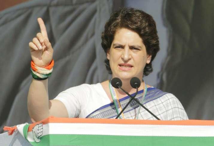 Priyanka Gandhi during an election rally