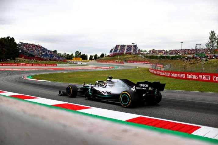 Bottas spins off, Hamilton tops 3rd practice for Spanish GP