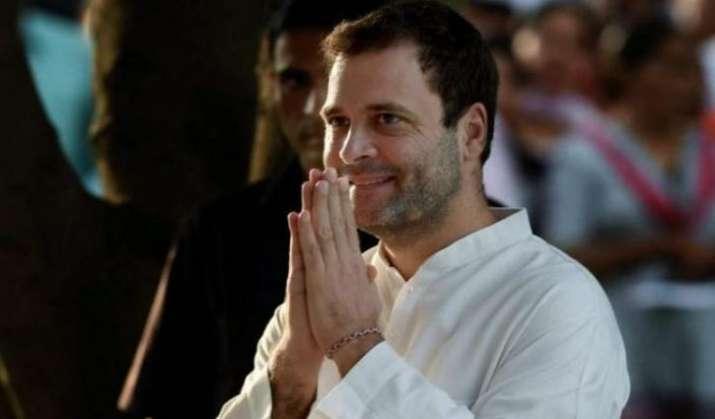 The Gandhi scion tweeted in Hindi.